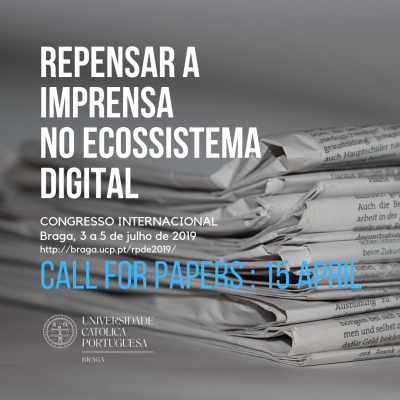 Congresso internacional  Repensar a imprensa no ecossistema digital